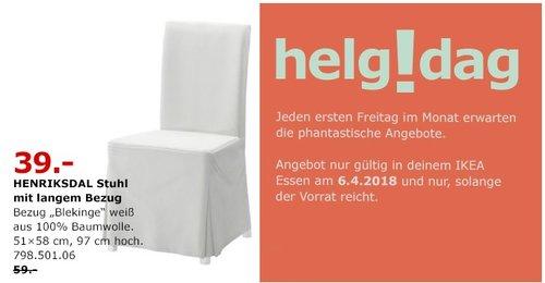 IKEA HENDRIKSDAL Stuhl - jetzt 34% billiger