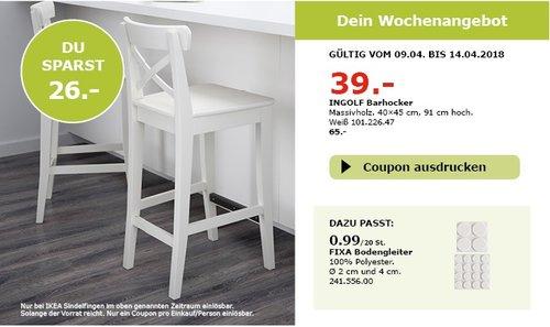 IKEA INGOLF Barhocker - jetzt 55% billiger