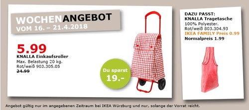 IKEA KNALLA Einkaufsroller - jetzt 76% billiger