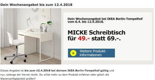 IKEA MICKE Schreibtisch - jetzt 29% billiger