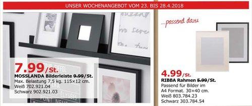IKEA MOSSLANDA Bilderleiste - jetzt 20% billiger