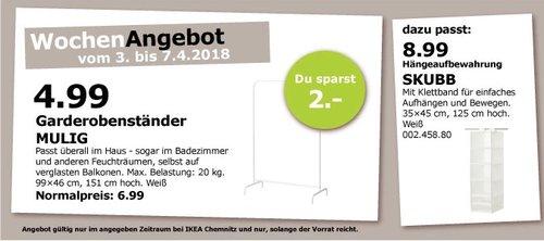IKEA MULIG Garderobenständer - jetzt 29% billiger
