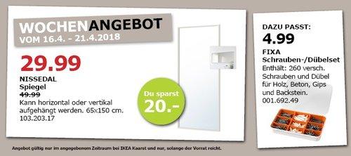 IKEA NISSEDAL Spiegel - jetzt 40% billiger