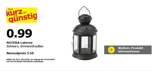 IKEA ROTERA Laterne für Teelicht - jetzt 72% billiger