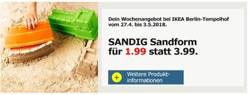 IKEA SANDIG Sandform - jetzt 50% billiger