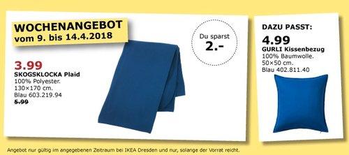 IKEA SKOGSKLOCKA Plaid - jetzt 33% billiger
