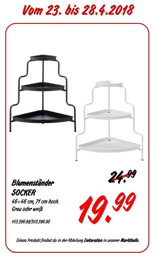IKEA SOCKER Blumenständer grau oder weiß - jetzt 20% billiger