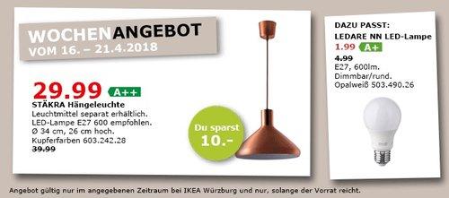 IKEA STÄKRA Hängeleuchte - jetzt 25% billiger