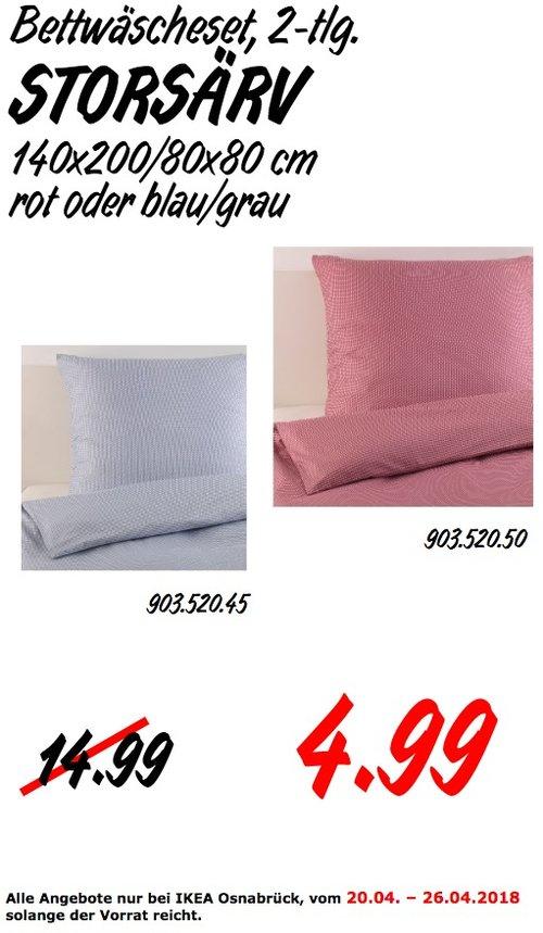 IKEA STORSÄRV Bettwäscheset, 2-teilig - jetzt 67% billiger