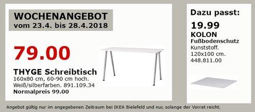 IKEA THYGE Schreibtisch - jetzt 20% billiger