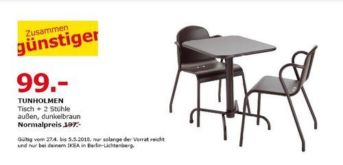 IKEA TUNHOLMEN Tisch + 2 Stühle - jetzt 50% billiger