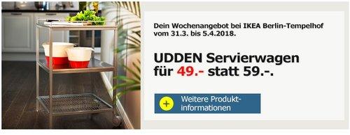 IKEA UDDEN Servierwagen - jetzt 17% billiger
