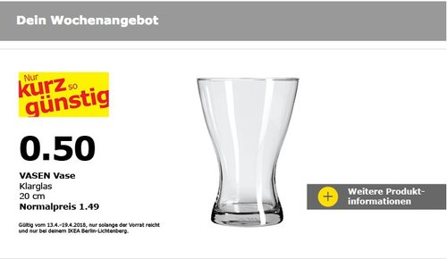 IKEA VASEN Vase - jetzt 66% billiger