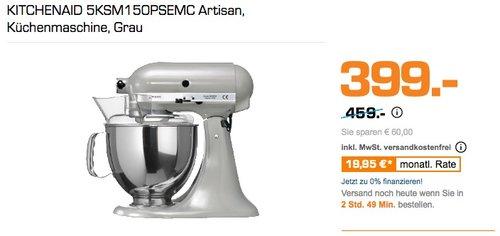 KITCHENAID 5KSM150PSEMC Artisan Küchenmaschine, Grau - jetzt 9% billiger