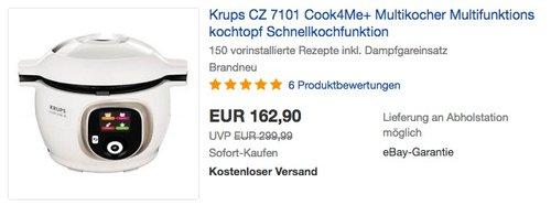 Krups CZ 7101 Cook4Me+ Multikocher - jetzt 14% billiger