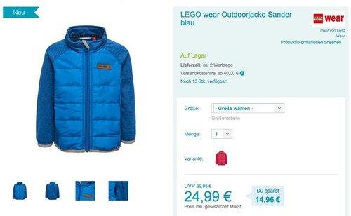 LEGO wear Outdoorjacke Sander - jetzt 25% billiger