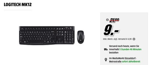 Logitech MK120 Tastatur und Maus Combo - jetzt 18% billiger
