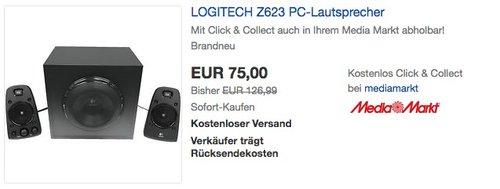 LOGITECH Z623 PC-Lautsprecher - jetzt 27% billiger