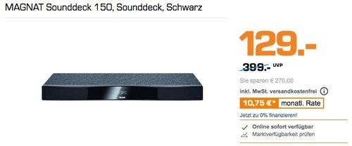 MAGNAT Sounddeck 150, Sounddeck, Schwarz - jetzt 22% billiger