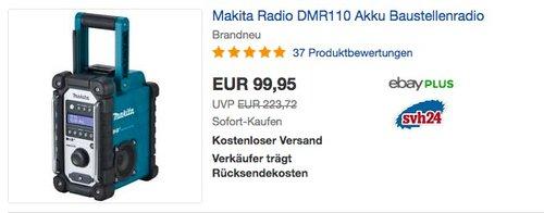 Makita Akku-Baustellenradio DMR110 (ohne Akku und Ladegerät) - jetzt 16% billiger