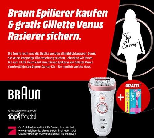 MediaMarkt Aktion: Braun Epilierer kaufen & gratis Gillette Venus Rasierer sichern - jetzt 18% billiger