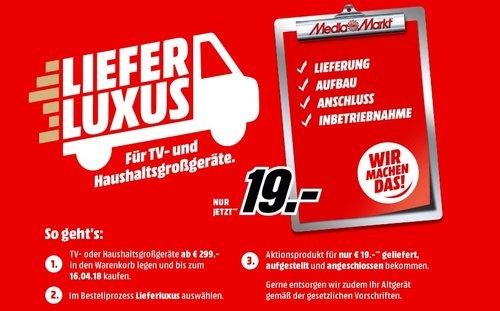 MediaMarkt Lieferluxus-Service: Lieferung, Aufbau, Anschluss und Inbetriebnahme - jetzt 81% billiger