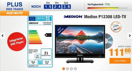 Medion Life P12308 (15,6 Zoll HD) TV mit integriertem DVD-Player - jetzt 26% billiger