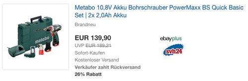 Metabo 10,8V PowerMaxx BS Quick Basic Set - jetzt 23% billiger