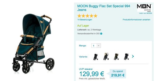 Moon FLAC JEANS Buggy - jetzt 41% billiger