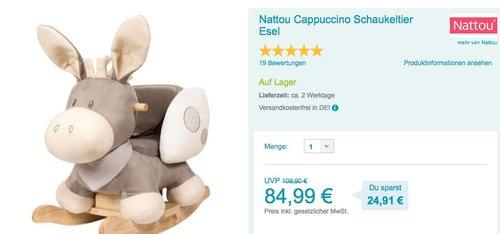 Nattou Cappuccino Schaukeltier Esel - jetzt 10% billiger