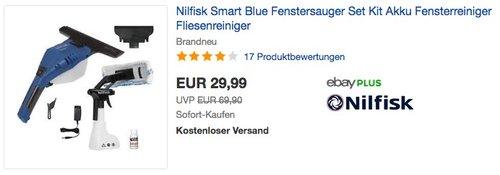 Nilfisk Smart Blue Fenstersauger - jetzt 25% billiger