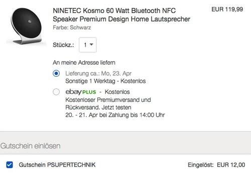 NINETEC Kosmo 60 Watt Bluetooth NFC Speaker Lautsprecher - jetzt 10% billiger