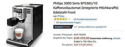 Philips 5000 Serie EP5365/10 Kaffeevollautomat - jetzt 16% billiger