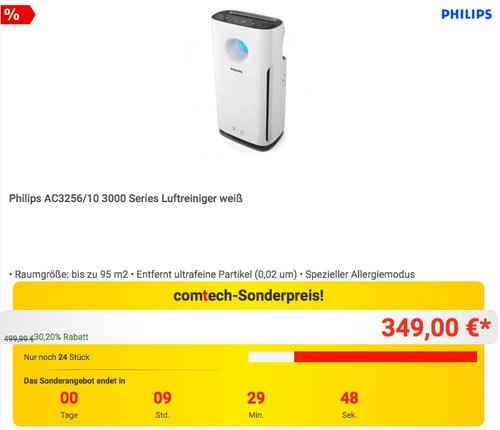 Philips AC3256-10 Luftreiniger - jetzt 6% billiger