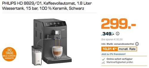 PHILIPS HD 8829/01 Kaffeevollautomat schwarz - jetzt 12% billiger
