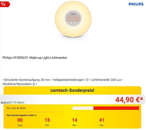 Philips HF3500/01 Wake-up Light Lichtwecker - jetzt 22% billiger