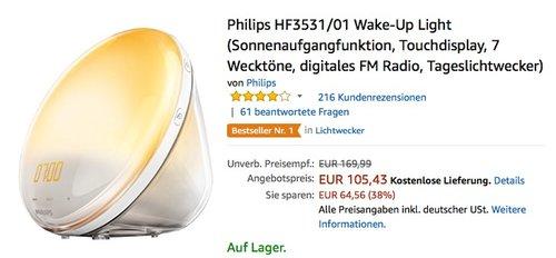 Philips HF3531/01 Wake-Up Light Tageslichtwecker - jetzt 16% billiger