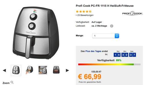 Profi Cook PC-FR 1115 H Heißluft-Fritteuse - jetzt 16% billiger