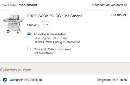 ProfiCook PC-GG 1057 Gasgrill inkl. Temperaturanzeige, 3-Edelstahlbrenner - jetzt 10% billiger
