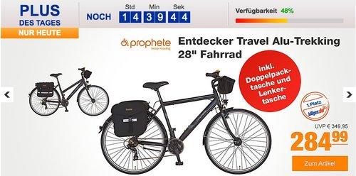 "Prophete Alu-Trekking 28"" Entdecker Travel Fahrrad Damen Herren - jetzt 22% billiger"