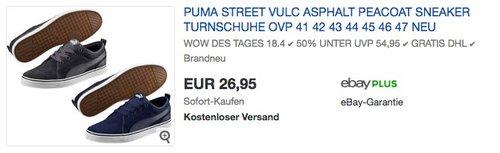 Puma Street Vulc Sneaker - jetzt 23% billiger