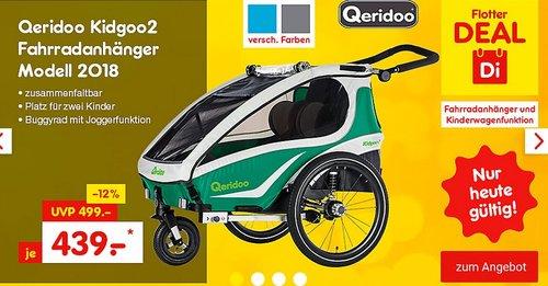 Qeridoo Kidgoo2 Fahrradanhänger Modell 2018 - jetzt 12% billiger