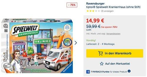 Ravensburger 00772 - Tiptoi Spielwelt Krankenhaus - jetzt 14% billiger