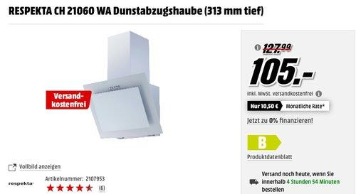 RESPEKTA CH 21060 WA Dunstabzugshaube (313 mm tief) - jetzt 14% billiger