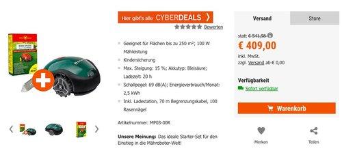 Robomow RX12u Mähroboter + RX Ersatzmesser + 1kg Rasendünger - jetzt 9% billiger