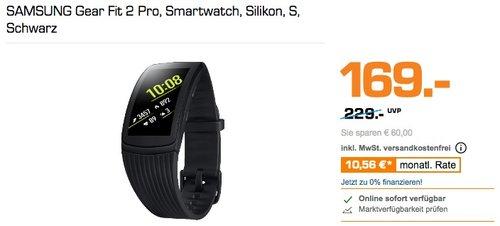 SAMSUNG Gear Fit 2 Pro, Smartwatch, S, Schwarz - jetzt 15% billiger