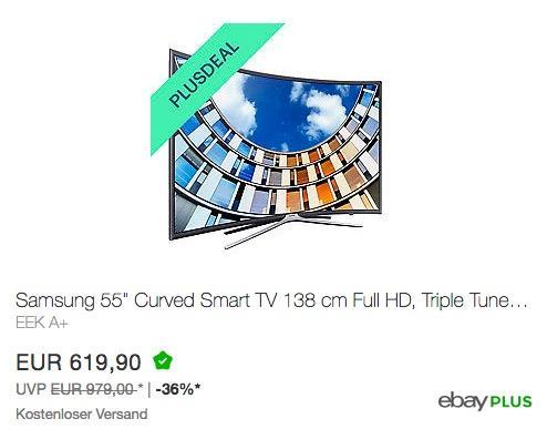 Samsung M6399 138 cm (55 Zoll) Curved Fernseher - jetzt 19% billiger