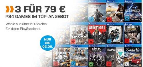 Saturn Aktion: 3 PS4 Games für 79 € - jetzt 34% billiger