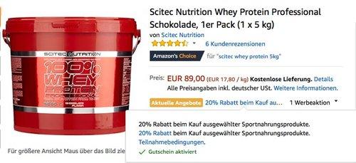 Scitec Nutrition Whey Protein Professional Schokolade, 1er Pack (1 x 5 kg) - jetzt 20% billiger