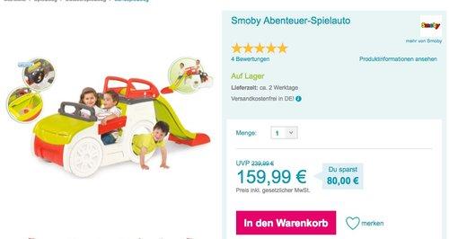 Smoby Abenteuer-Spielauto - jetzt 17% billiger